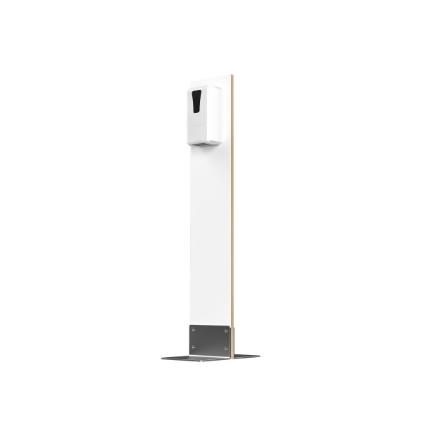 Desinfektions-System Abril ST, Holz Weißlack, mit SensorTouch-Spender
