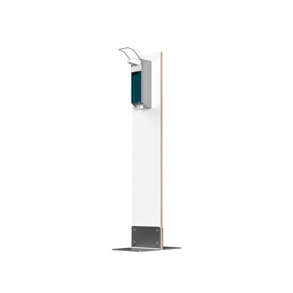 Desinfektions-System Abril PS, Holz Weißlack, mit Pumpspender
