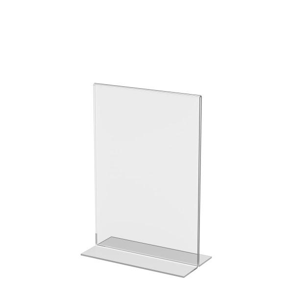 T-Aufsteller aus Acrylglas, DIN A5