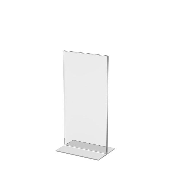 T-Aufsteller aus Acrylglas, DIN lang