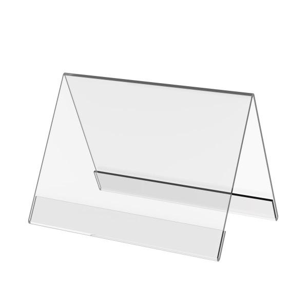 Dachaufsteller aus Acrylglas, DIN A6 quer