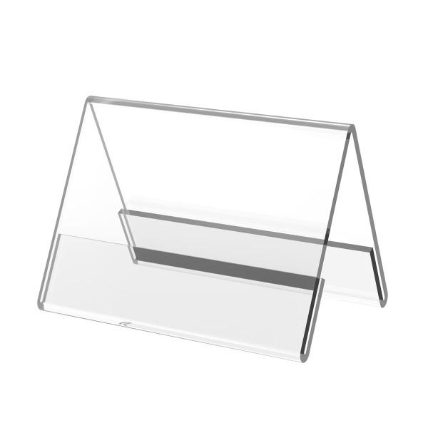 Dachaufsteller aus Acrylglas, DIN A8 quer
