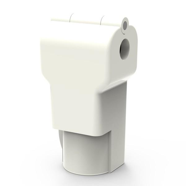 Easysafe Hakenschloss für Einzelhaken 4,8 mm weiß