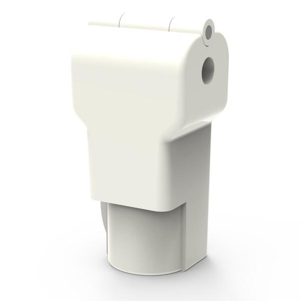 Easysafe Hakenschloss für Einzelhaken 4,0 mm weiß