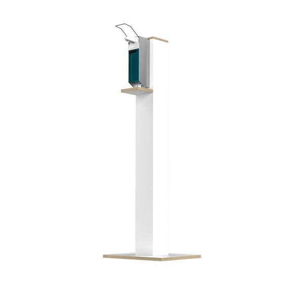 Desinfektions-System Agrio PS, Holz Weißlack, mit Pumpspender